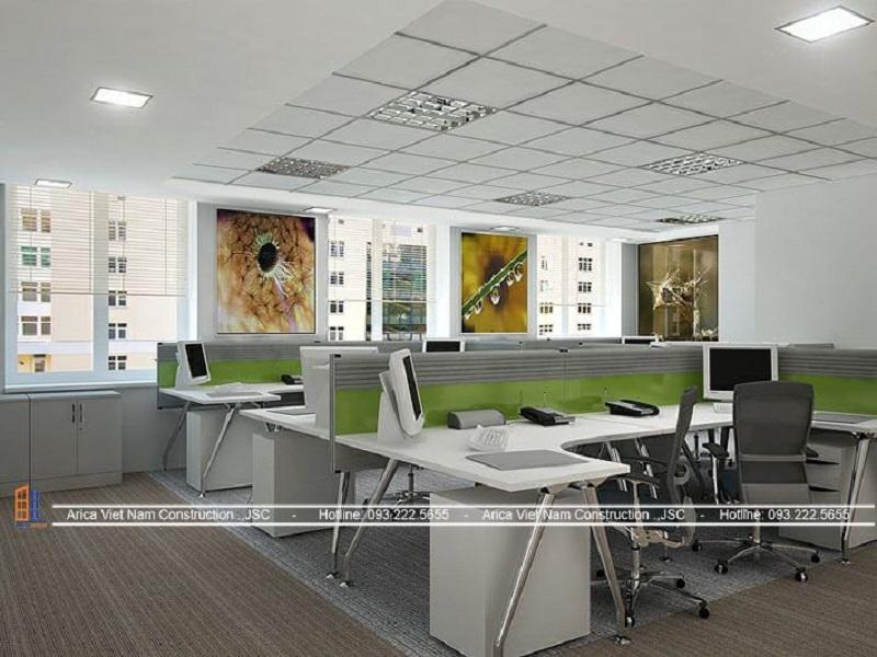 Thiết kế văn phòng 40m2 với tone màu phù hợp